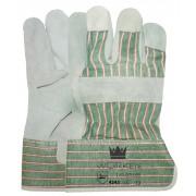 M-Safe A kwaliteit Splitlederen Werkhandschoen, 7 cm Kap