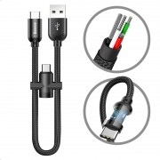 Baseus U-shape Type-C Cable with MicroUSB Adapter - Black