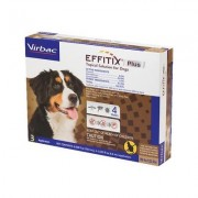 Virbac EFFITIX Plus Topical Solution for X-Large Dogs 89-132 lbs, 3 Treatments