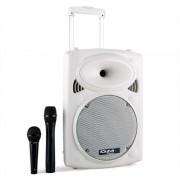 Ibiza Port10VHF-BT Altavoz PA móvil Batería Bluetooth USB SD 500W Blanco (PORT10VHF-BT-WH)