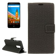 For Wileyfox Swift 2 Knit Texture Horizontal Flip Leather Case with Holder & Card Slots & Wallet & Photo Frame (Black)