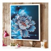 5D DIY Flores Pintura Patrón Diamante Diamante De Acupuntura En La Decoración Del Hogar