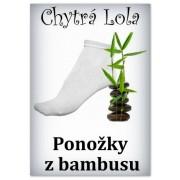 Chytrá Lola - Ponožky z bambus. vlákna - vel: 35-38/dámské/bílé (BP01)