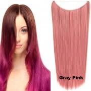 Flip in vlasy - 60 cm dlouhý pás vlasů - odstín Gray Pink - Světové Zboží