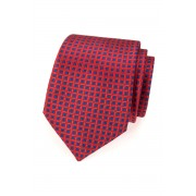 Červená kravata modrý vzor Avantgard 559-1613