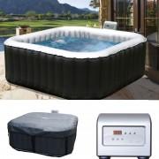 Whirlpool MSpa HWC-A62, 2+2 Personen In-/Outdoor heizbar aufblasbar 158x158cm FI-Schalter ~ Variantenangebot