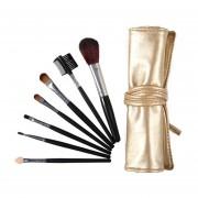 EY 7pcs De Brochas De Maquillaje Cosmético Maletín Set Foundation Powder Sombreador De Ojos