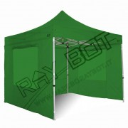ray bot Gazebo pieghevole 3x3 verde Exa 55mm alluminio con finestre PVC 350g