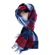 Profuomo Schal Rot + Blau Karo - Rot