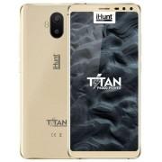 "Telefon mobil iHunt Titan P6000 Power, Procesor Quad-Core 1.3 GHz, Ecran TFT IPS 5.5"", 2GB RAM, 16GB Flash, 13 + 2 MP, Wi-Fi, 3G, Dual Sim, Android (Auriu) + Cartela SIM Orange PrePay, 6 euro credit, 6 GB internet 4G, 2,000 minute nationale si internation"