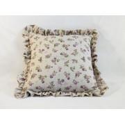 Dekorativni jastuk Bež ljubičasti Ruže 40x40cm