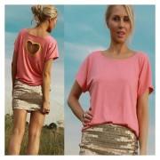 Camiseta Corazón En La Espalda-Rosado