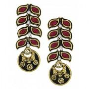 Zaveri Pearls Leafy Pattern glamorous Earring - ZPFK5650
