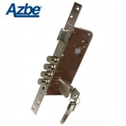 Cerradura de seguridad para embutir AZBE 8912 Niquel, 90x60