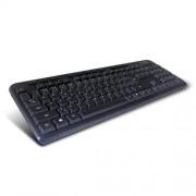 Klávesnica C-TECH CZ/SK KB-102M PS2 slim black multimediálna