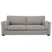 Sofá diseño 3 plazas tejido gris claro MILORD - Miliboo