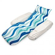 Poolmaster 70745 Rio Sun Adjustable Chaise Lounge - Blue Currents
