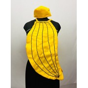 Banana Fancy Dress for Kids Fruits Costume(Cutout with Cap)