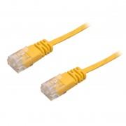 Cablu Ultra Plat CAT6 Galben 5 m