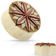 12 mm Double-flared plug lotus tribal