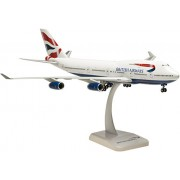Hogan Wings Boeing 747-400 British Airways, Scale 1:200 (With Stand With Gear)