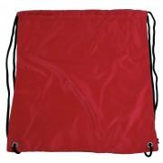 Pytlík do tělocviku / na cvičky jednobarevný stahovatelný červený 3H02
