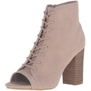 Madden Girl Women's Ryttee Ankle Bootie, Taupe Fabric, 8 M US