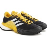 ADIDAS BARRICADE 2017 BOOST Tennis Shoes For Men(Black, Yellow)