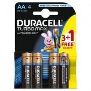 Baterie Duracell Turbo Max AA LR06 3+1 gratis