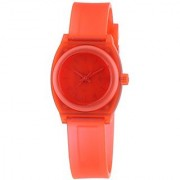 Nixon A425-1784 Ladies The Small Time Teller P Translucent Coral Watch