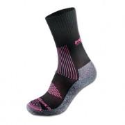 Rywan Bi-Climasocks Randonee Wandern, Antiblasen-Socken, Gr. 35-37, Schwarz/Pink