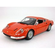 Bburago Ferrari Dino 246 Gt - 1968 1/24 Scale Diecast Model Red