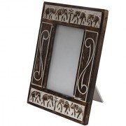 Craft Art India Brown Handmade Wooden Photo Frame With Carving for Photos / Collage CAI-HD-0002-A