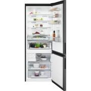 Combina frigorifica AEG RCB646E3MB, No Frost, 461 L, H 192 cm, Display LCD, Racire rapida, Inghetare rapida, Clasa energetica A++, Gri inchis