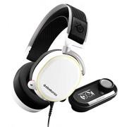 SteelSeries Arctis Pro + GameDAC Biauricular Diadema Blanco Auriculares con micrófono (Consola de Videojuegos + PC/Videojuegos, Biauricular, Diadema, Blanco, Aluminio, Acero, Alámbrico)