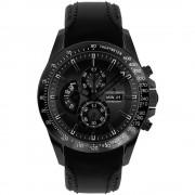 Ručni sat 1-1635C ( x V) 46 mm x 14 mm crna boja, kućište: plemeniti čelik, materijal narukvice: prava koža, Jacques Lem