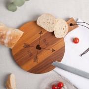 YourSurprise Planche à pain - Teck - Rond (S)
