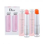 Christian Dior Addict Lip Glow tonalità 001 Pink confezione regalo balsamo labbra 3,5 g + balsamo labbra Lip Glow Reviver Balm 3,5 g 004 Coral
