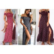 Qingdao Sihaihuifeng Trade LTD t/a YelloGoods £10 instead of £29.99 for a women's floral maxi dress in UK 10-16 sizes from YelloGoods - save 67%