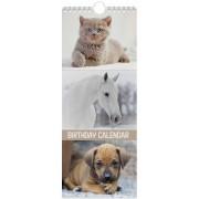 verjaardagskalender - kat - paard - hond