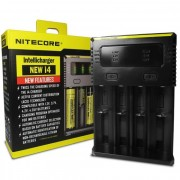 Nitecore I4 Charger 4 Port Intelligent Battery Charger **New 2020 Model** 18650, 26650, AA, AAA Batteries