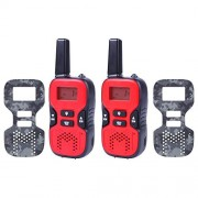 Kids Walkie Talkies Rechargeable, 2 FREE Changeable Camouflage Plates 22 Channel FRS/GMRS 2 Way Radio 2 Miles (up to 3.7 Miles) UHF Handheld Walkie Talkie for Kids by ESEE