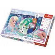 Puzzle clasic pentru copii - Regatul de gheata Frozen 54 piese cu abtibilde