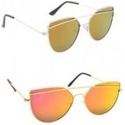 Sulit Cat-eye Sunglasses(Golden, Green)
