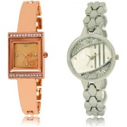 The Shopoholic Rose Gold Silver Combo Best Combo Pack Rose Gold And Silver Dial Analog Watch For Girls Watch In Girl