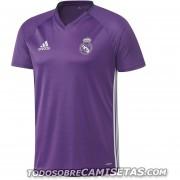 Jersey Adidas De Entrenamiento Del Real Madrid Adizero Morado Temporada 2017