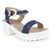 London Steps Women Navy Wedges