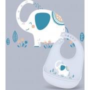 Slabbetjes Baby Siliconen – Blauw