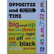 Kids Dry Erase Work And Activity Book Opposites And Time