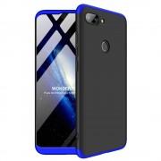 GKK 360 Protection telefon tok hátlap tok Első és hátsó tok telefon tok hátlap az egész testet fedő Xiaomi Mi 8 Lite fekete-kék